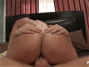big-chested Charley chase splattering tear up session