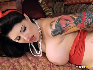 tattooed mommy Darling Danika smashes her stepdaughters boy