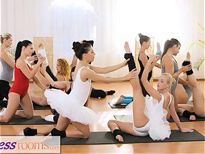 fitness rooms diminutive ballet masters secret threeway