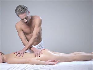 Deep glamour massage for the pallid mushy Alecia