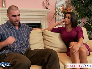 brown-haired Rachel Starr shag her lucky neighbor