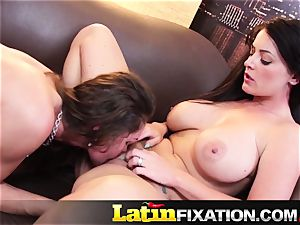 LatinFixation molten threesome with Sophie Dee
