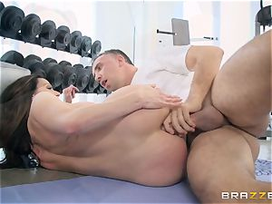 crazy brown-haired Kendra eagerness assfuck pummeled at the gym