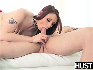 Alluring Violet Monroe plumbed with double foray