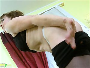 OldNannY steamy Mature nymph Solo onanism Showoff