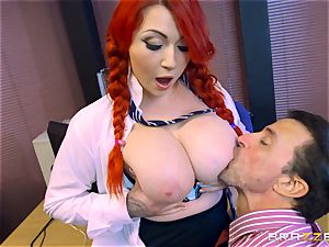buxomy schoolgirl Harmony Reigns shafted by the dean