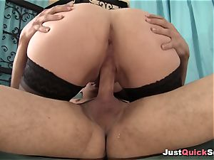 buxomy cougar With huge knockers loves firm fuck-stick
