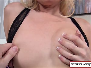 Aaliyah enjoy gargles and pummel a ample manmeat in point of view style