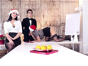 asses BUERO - wild Christmas gang orgy at the office
