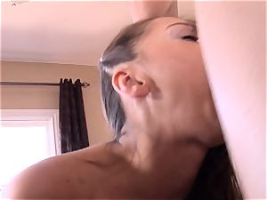 Pint sized Sara Luvv drills her fathers pal