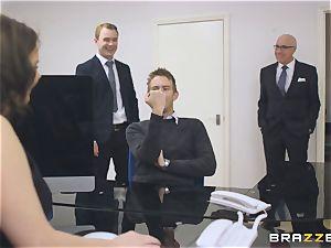 big-chested secretary Tasha Holz gets a ample fuck-stick at work