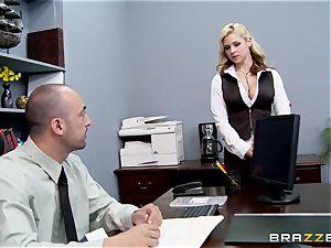 Generous boss pokes super-fucking-hot secretary Sarah Vandella