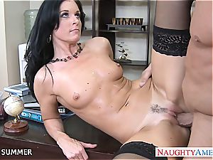 superb brunette India Summer fuckin'