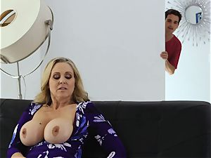 gobbling out huge-chested cougar Julia Ann