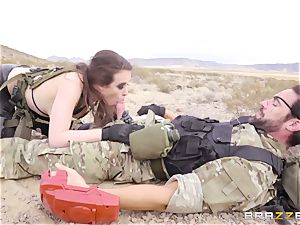 iron Gear Solid 5 anal porn parody with mischievous black-haired Casey Calvert
