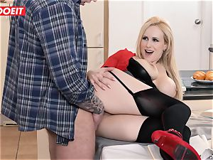 huge-chested milf instructor tempts and pokes student