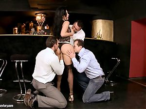 Aletta Ocean gangbang as she throats a insane gang