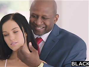 BLACKED steaming Megan Rain Gets DP'd By Her Sugar dad and His friend