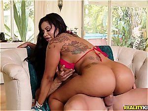 gigantic bootie Latina revels while being plowed