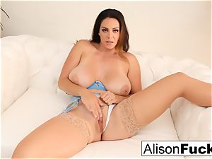 Alison Tyler fondles her cooter