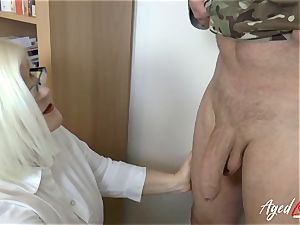 AgedLovE Lacey Starr poking firm with Soldier