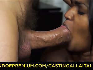 casting ALLA ITALIANA - Indian stunner gets immense man sausage ass fucking