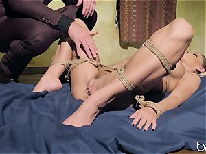 Jessa Rhodes poked by draped naughty stud Charles Dera