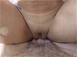 fantastic Gracie Dai boning in the shower
