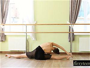 marvelous gal Regina does gymnastic acting