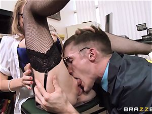 delicious secretary Shawna Lenee puts this cop off his stride