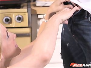 naughty Julia Ann jammed deep in her beaver