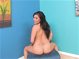 chinese porn industry star London Keyes plays for the camera