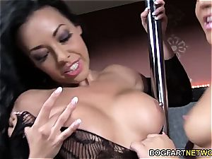 Stacey Day and Rio Lee Share milky man rod - Gloryhole