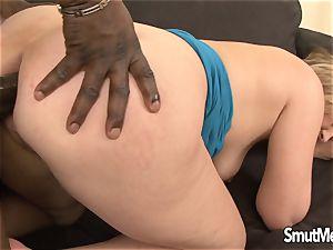 mummy Luisa takes ebony man sausage in her donk