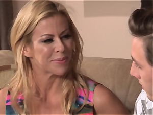 Neighbors wifey pt3 mind-blowing cougar Alexis Fawx messing with hung teenage