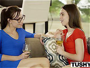 TUSHY Riley Reid very first dual foray