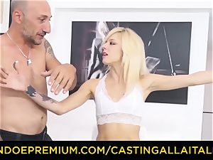 casting ALLA ITALIANA super-steamy platinum-blonde unloads in stiff ass fucking
