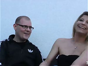 SEXTAPE GERMANY - German blond inexperienced plumbs on web cam