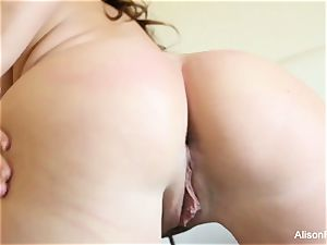 big jugged cutie Alison Tyler plays with her snatch