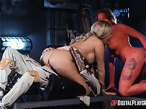 Monster boner longing space bombshells Athena Palomino and Carly Rae