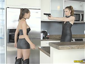 Anastasiya Hart and Elena Koshka making amends by slurping twat