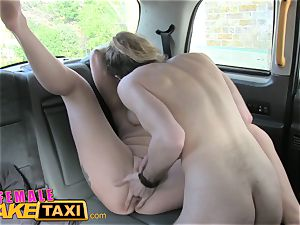 damsel faux taxi spectacular driver gets some schoolgirl manmeat