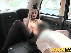 faux taxi super-fucking-hot chesty stunner gets massive jism shot