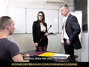 pornography ACADEMIE - lecturer Valentina Nappi MMF threeway