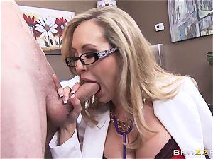 Rock firm patient gets porked by medic Brandi enjoy