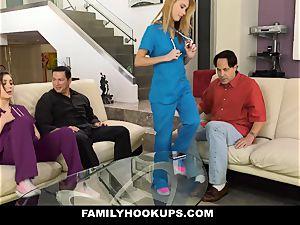 FamilyHookUps - naughty teen penetrates parent pal