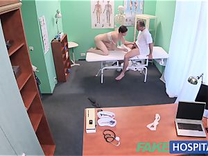 FakeHospital gorgeous Aussie tourist with large knockers
