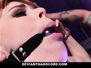 DeviantHardcore - molten sandy-haired Gets mouth plumbed