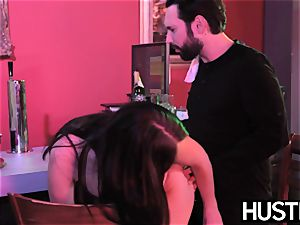 Succubi Nickey Huntsman doggystyled on bar tabouret