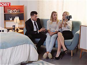 LETSDOEIT - super-naughty platinum-blonde Gets Gelp To spunk From duo